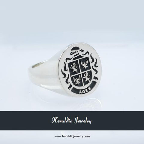Agee family crest ring