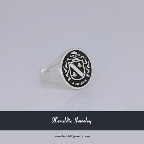 Aguirre family crest ring