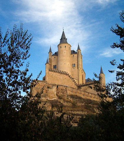 Castle spotlight, Alcázar of Segovia, Spain
