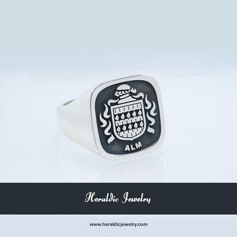 Alm family crest ring