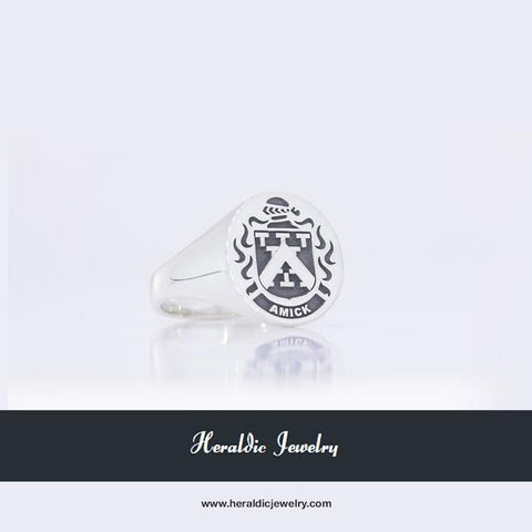 Amick family crest ring