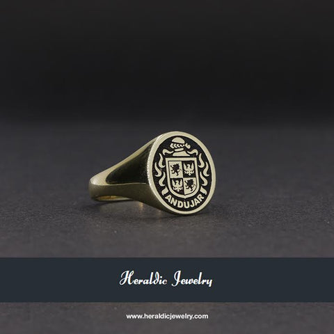 Andujar family crest ring