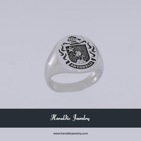 Antonelli family crest ring