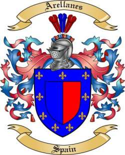 Arellanes family crest