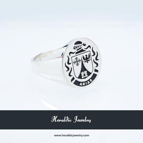 Arias family crest ring