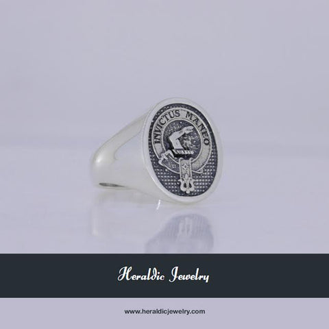 Armstrong clan crest ring