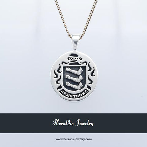 Armstrong family crest pendant