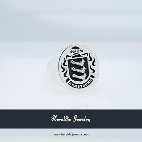 Armstrong family crest ring