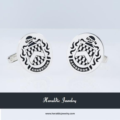 Ash brook family crest cufflinks