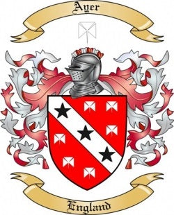 Ayer family crest
