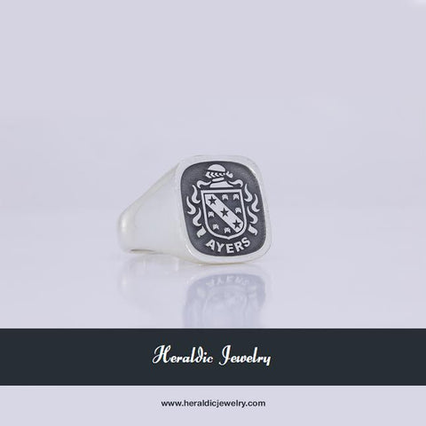 Ayers family crest ring