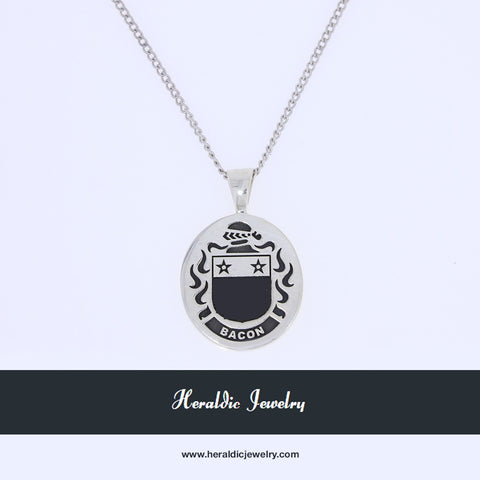 Bacon family crest pendant