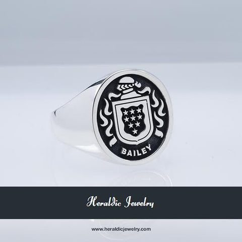 Bailey family crest ring