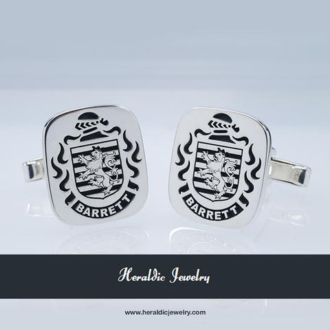 Barrett family crest cufflinks