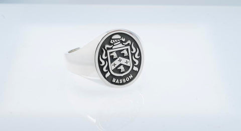 Basson family crest ring