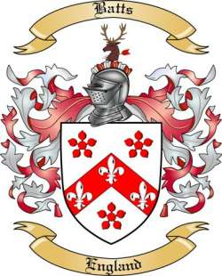 Batts family crest