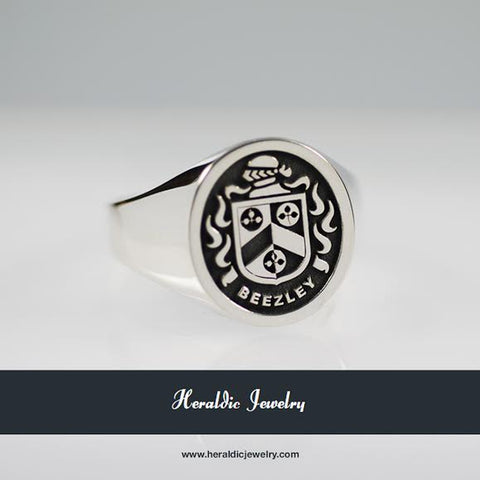 Beezley family crest ring