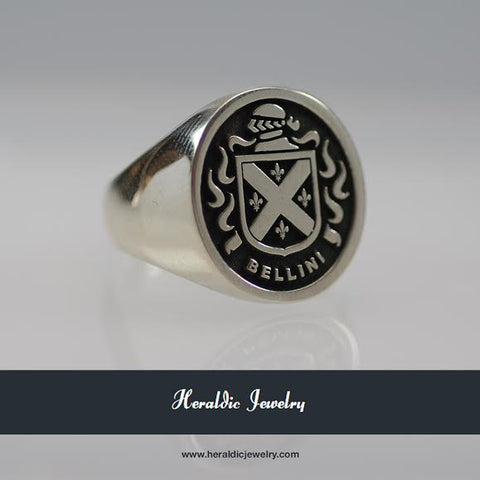 Bellini family crest ring