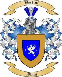 Bertini family crest