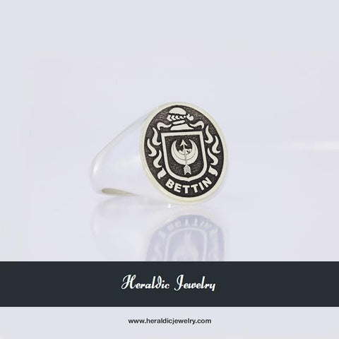 Bettin family crest ring