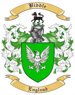Biddle family crest