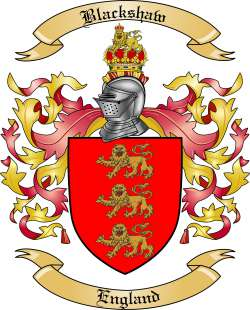 Blackshaw family crest