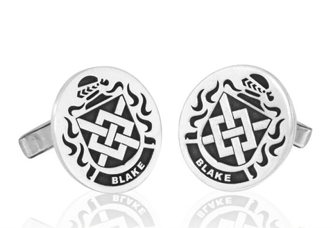 Coat of arms cuff links