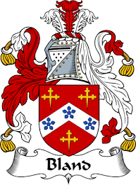 Bland family crest