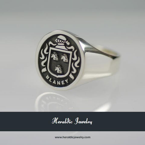 Blaney family crest ring