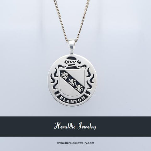 Blanton family crest necklace