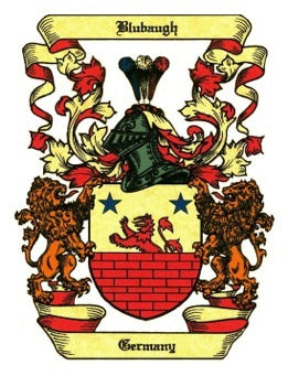 Blubaugh family crest