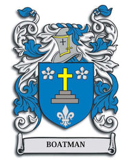 Boatman family crest
