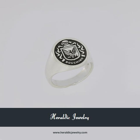 Bocchino family crest ring