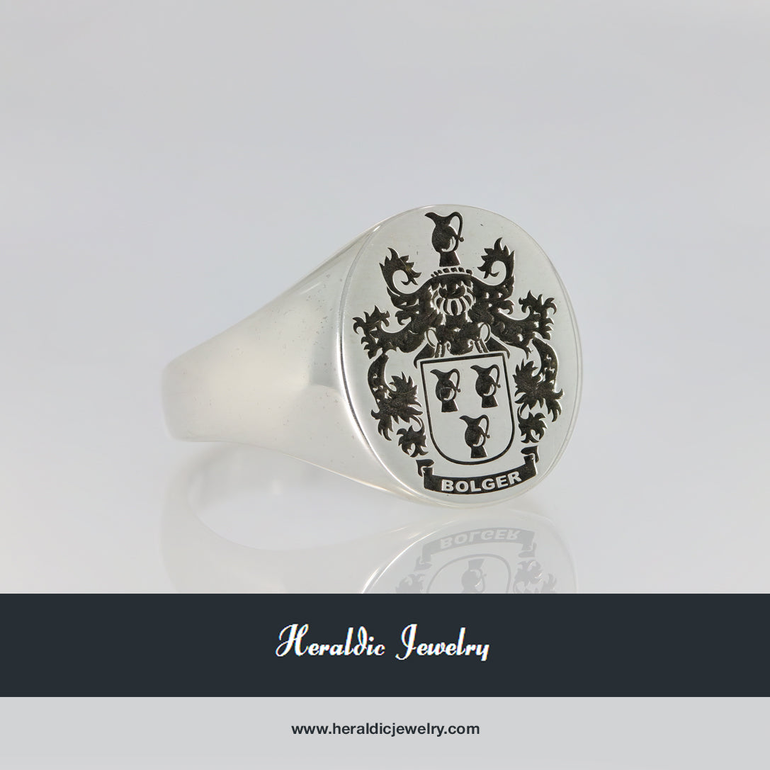 Bolger family crest ring