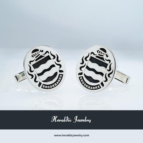 Brookbanks family crest cufflinks