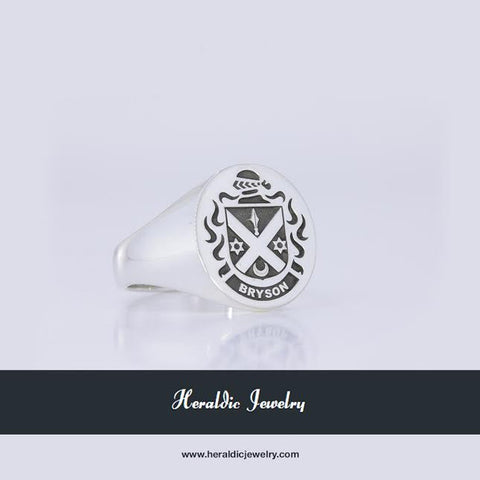 Bryson silver crest ring