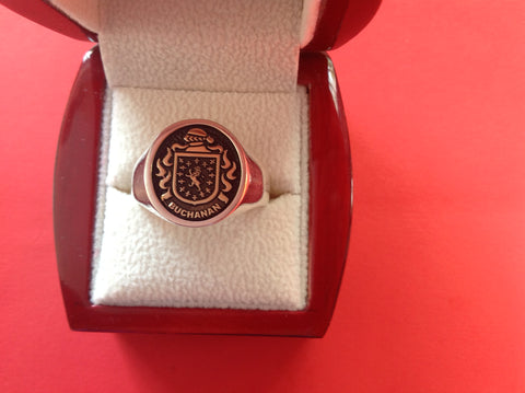 Buchanan family crest ring
