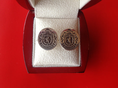 Buchanan family crest cufflinks