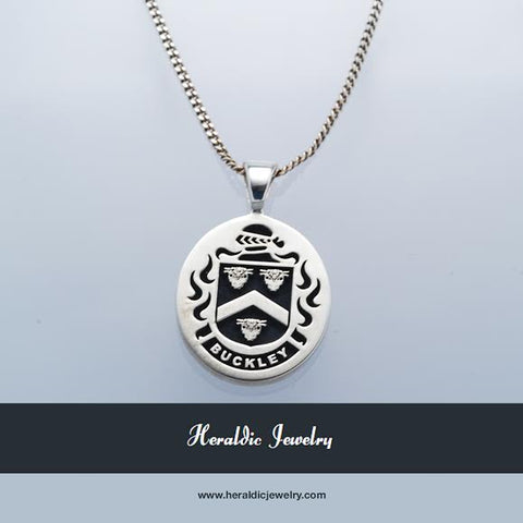 Buckley family crest necklace
