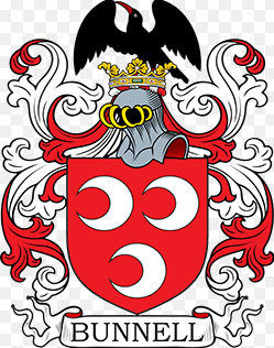 Bunnell family crest