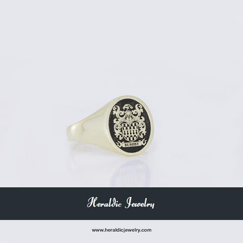 Gold custom signet ring