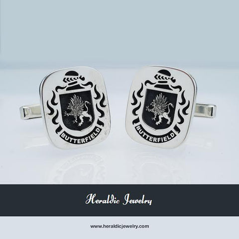 Butterfield family crest cufflinks