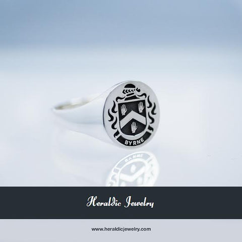 Byrne family crest ring