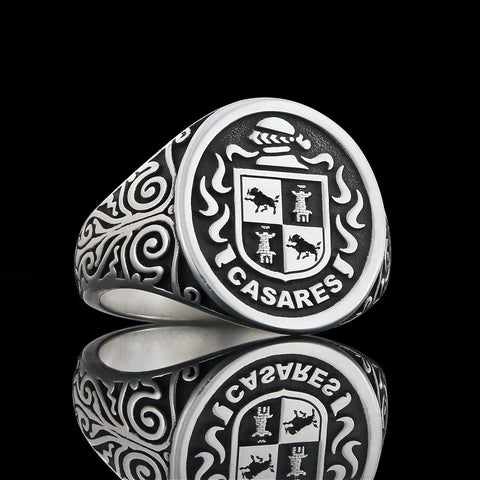Casares family crest ring