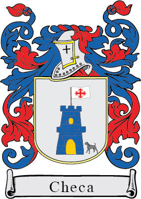 Checa family crest