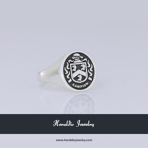 Campion family crest ring