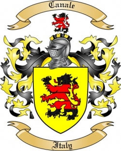 Canale family crest