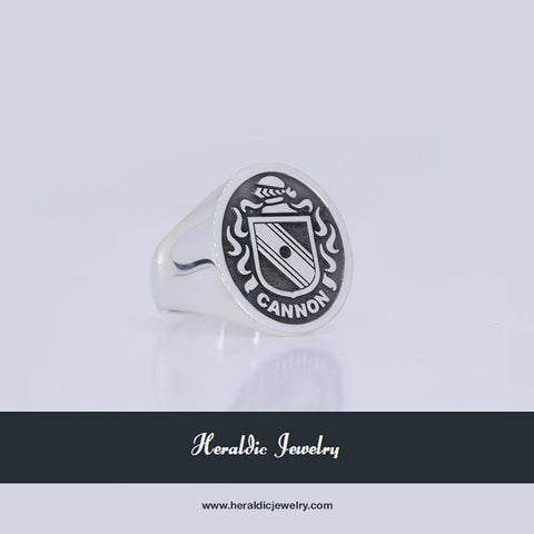 Cannon silver crest ring
