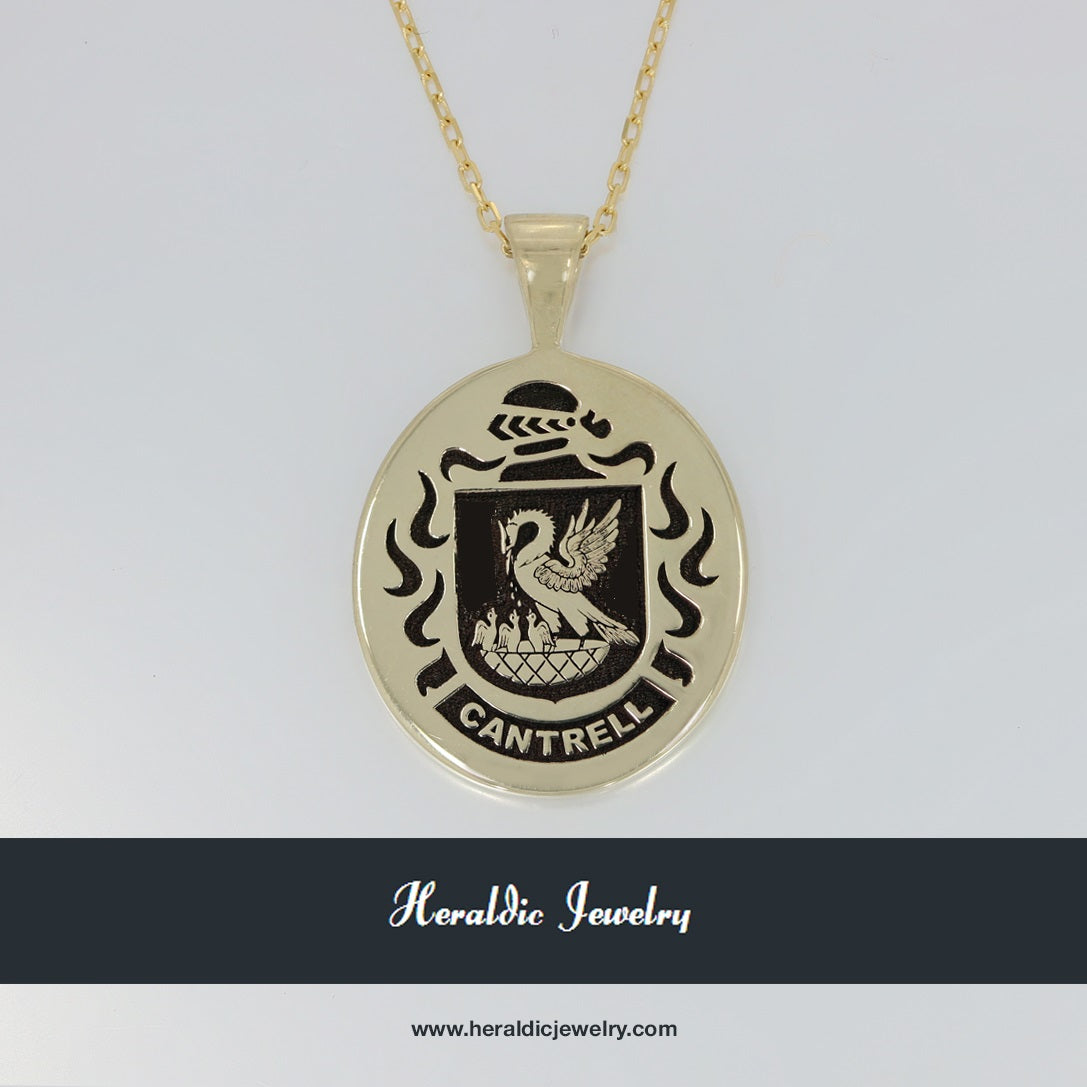 Cantrell family crest pendant