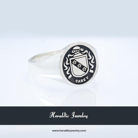 Carey family crest ring